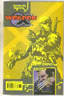 Weapon X The Draft-Zero #1 comic book very fine 8.0