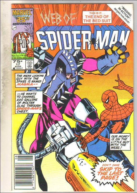 Web of Spider-man #17 comic book near mint 9.4