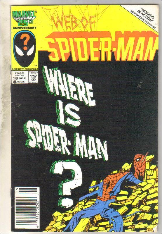 Web of Spider-man #18 comic book fine 6.0