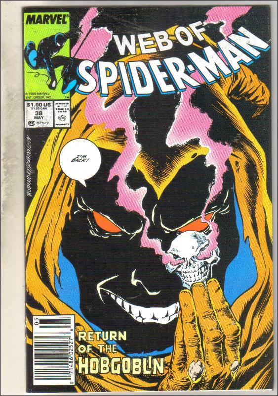 Web of Spider-man #38 comic book near mint 9.4