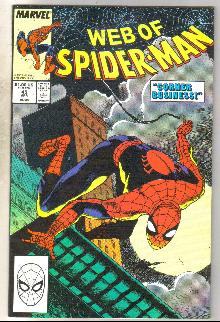 Web of Spider-man #49 comic book near mint 9.4