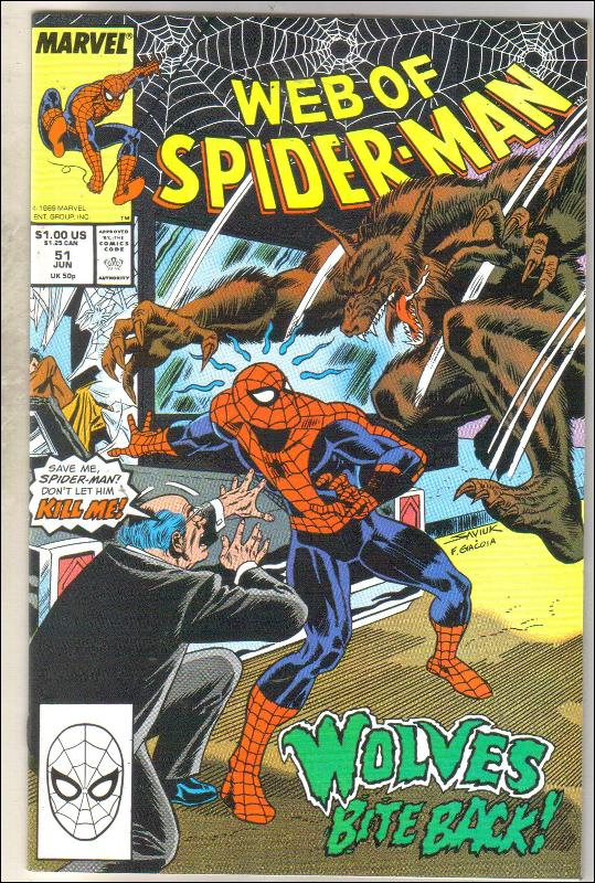 Web of Spider-man #51 comic book mint 9.8
