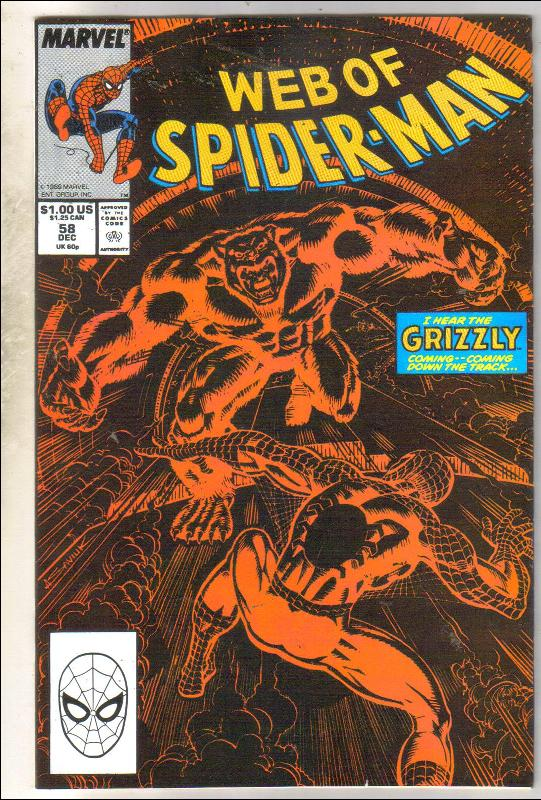 Web of Spider-man #54 comic book near mint 9.4