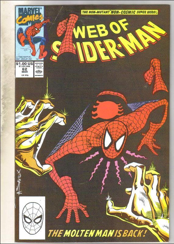 Web of Spider-man #62 comic book near mint 9.4