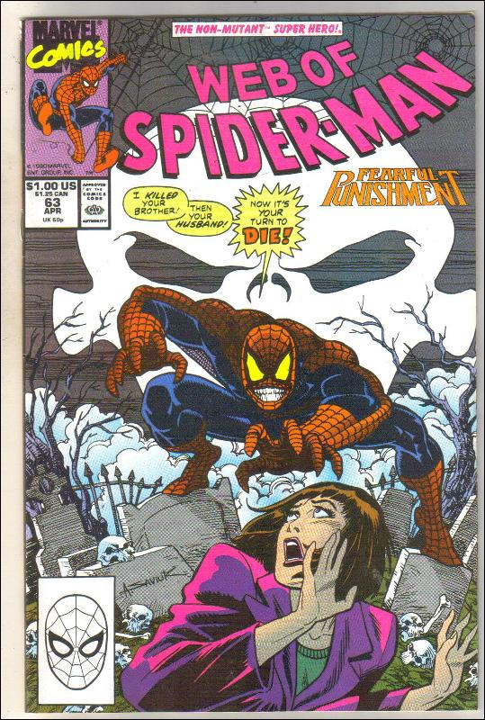 Web of Spider-man #63 comic book near mint 9.4