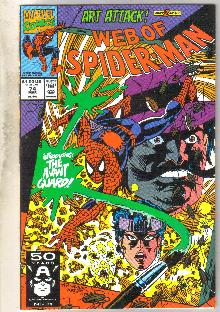 Web of Spider-man #74 comic book near mint 9.4