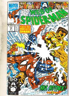 Web of Spider-man #75 comic book near mint 9.4