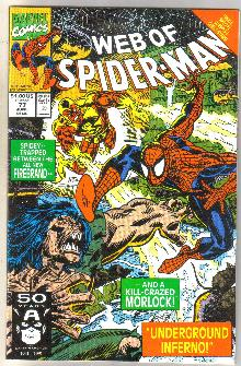 Web of Spider-man #77 comic book near mint 9.4