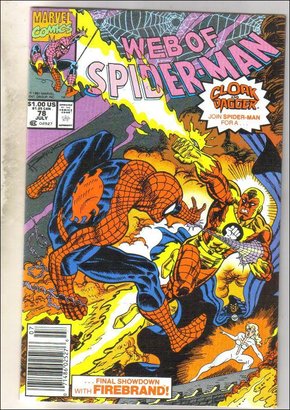 Web of Spider-man #78 comic book near mint 9.4