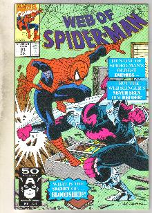 Web of Spider-man #81 comic book near mint 9.4