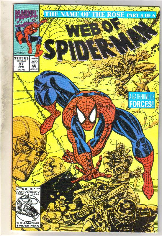 Web of Spider-man #87 comic book mint 9.8