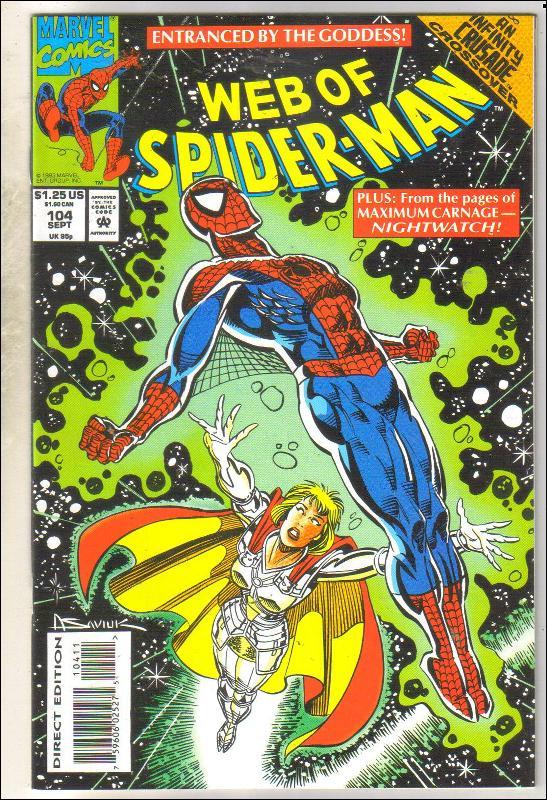 Web of Spider-man #104 comic book near mint 9.4