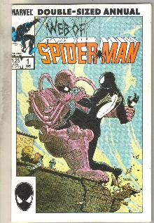 Web of Spider-man annual #1 comic book near mint 9.4