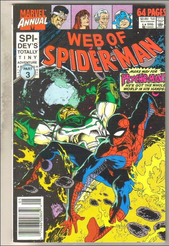 Web of Spider-man annual #6 comic book very fine 8.0