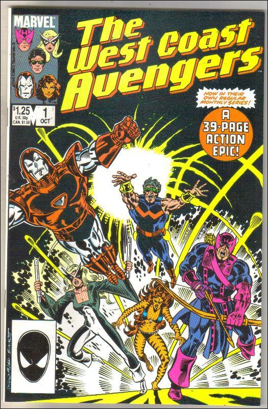 West Coast Avengers #1 comic book mint 9.8