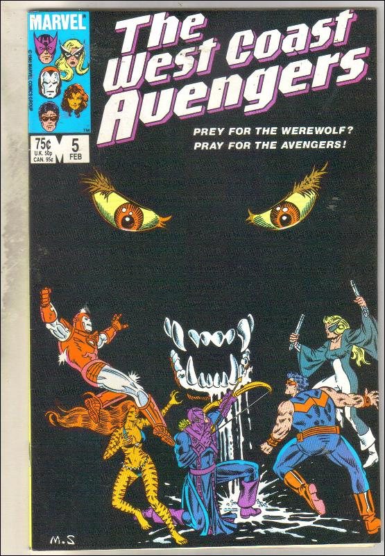 West Coast Avengers #5 comic book near mint 9.4
