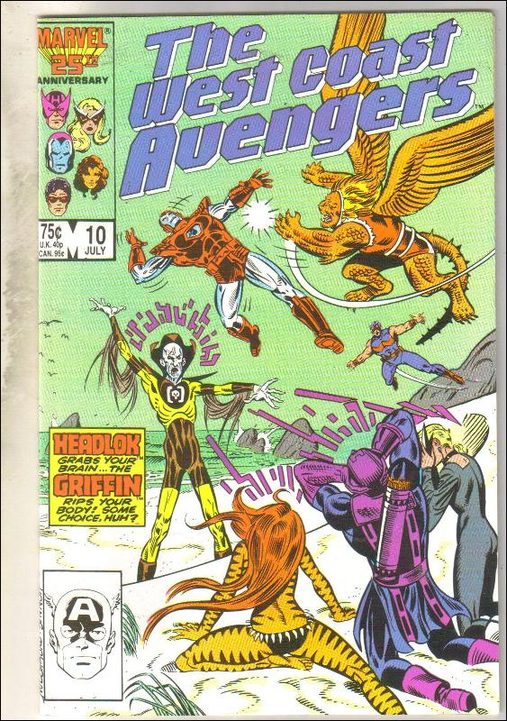 West Coast Avengers #10 comic book mint 9.8