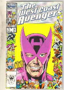 West Coast Avengers #14 comic book near mint 9.4