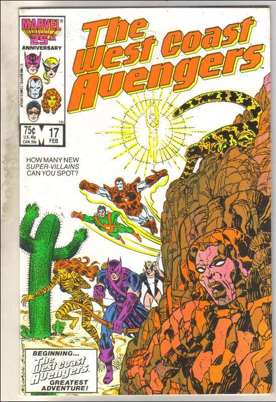 West Coast Avengers #17 comic book mint 9.8