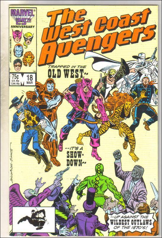West Coast Avengers #18 comic book near mint 9.4