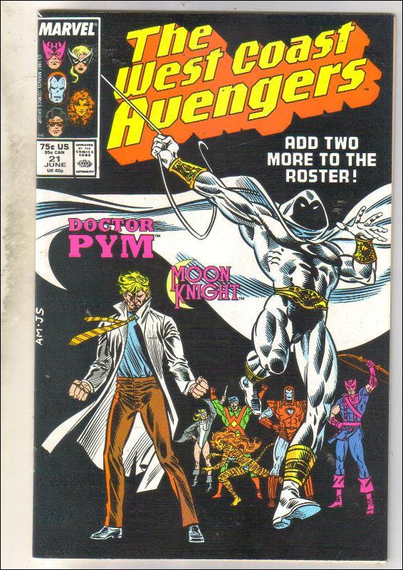 West Coast Avengers #21 comic book near mint 9.4