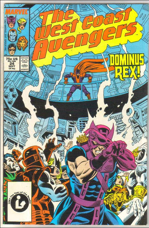 West Coast Avengers #24 comic book near mint 9.4