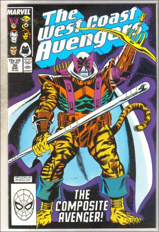 West Coast Avengers #30 comic book mint 9.8