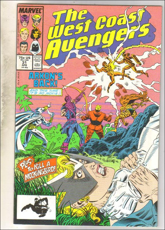 West Coast Avengers #31 comic book near mint 9.4