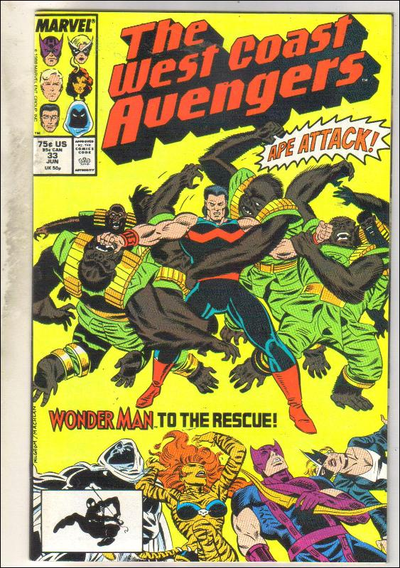 West Coast Avengers #33 comic book near mint 9.4