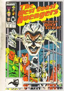 West Coast Avengers #34 comic book near mint 9.4