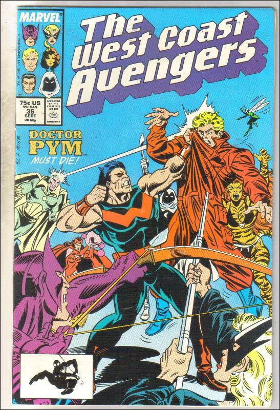 West Coast Avengers #36 comic book near mint 9.4