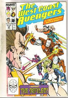 West Coast Avengers #38 comic book near mint 9.4