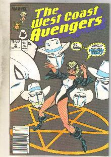 West Coast Avengers #41 comic book near mint 9.4