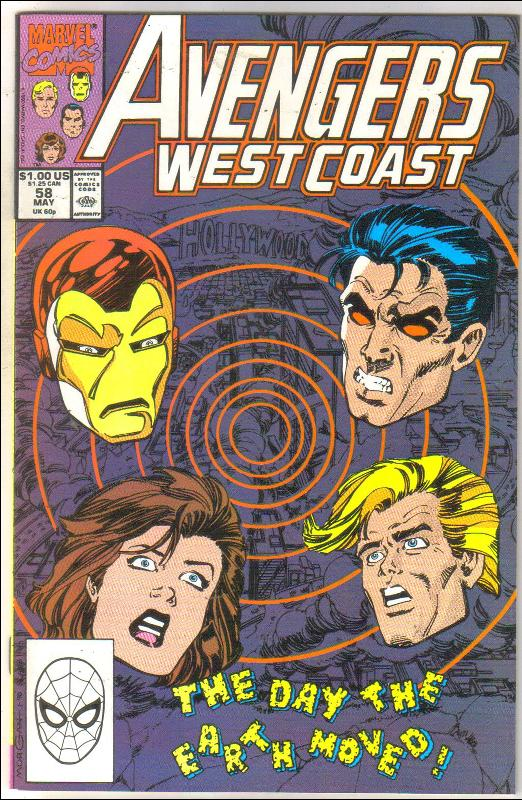 West Coast Avengers #58 comic book near mint 9.4