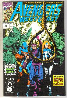 West Coast Avengers #76 comic book near mint 9.4