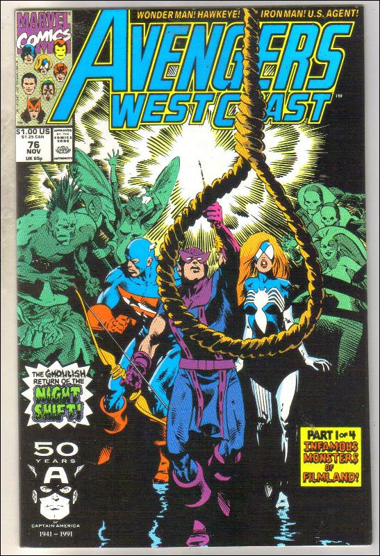 West Coast Avengers #76 comic book near mint 9.4