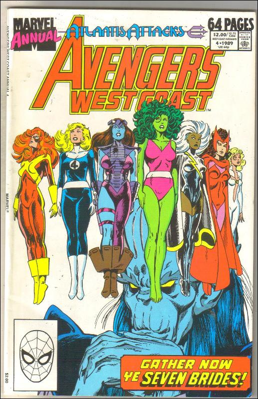 West Coast Avengers annual #4 comic book near mint 9.4
