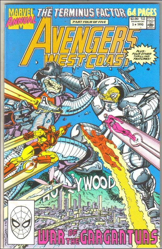 West Coast Avengers annual #5 comic book near mint 9.4