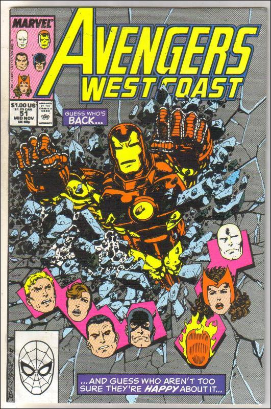West Coast Avengers #51 comic book near mint 9.4