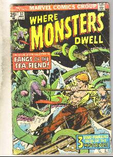 Where Monsters Dwell #37 comic book very good 4.0