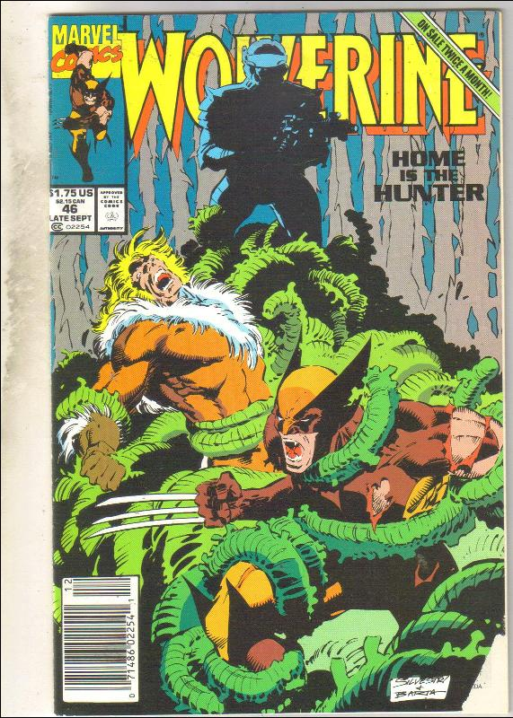 Wolverine #46 comic book very good 4.0