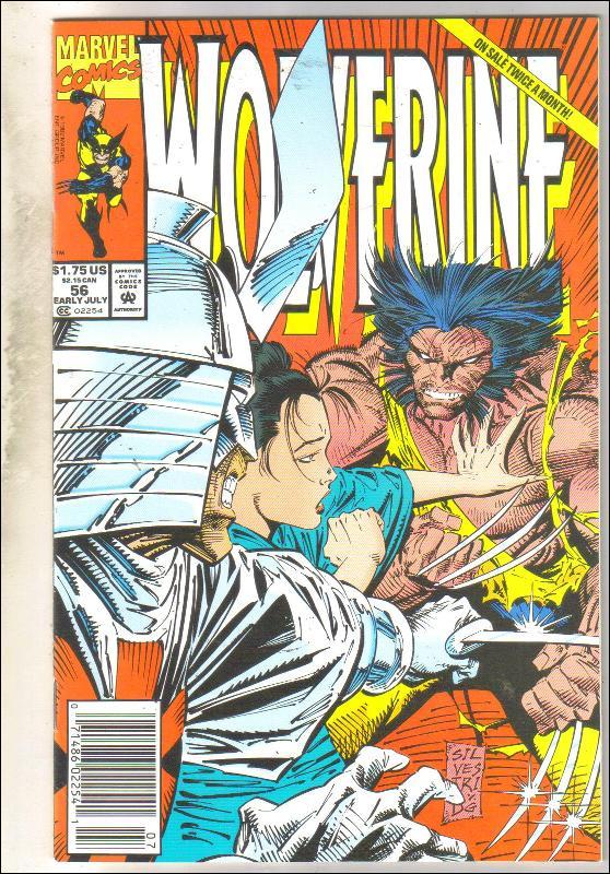 Wolverine #56 comic book near mint 9.4