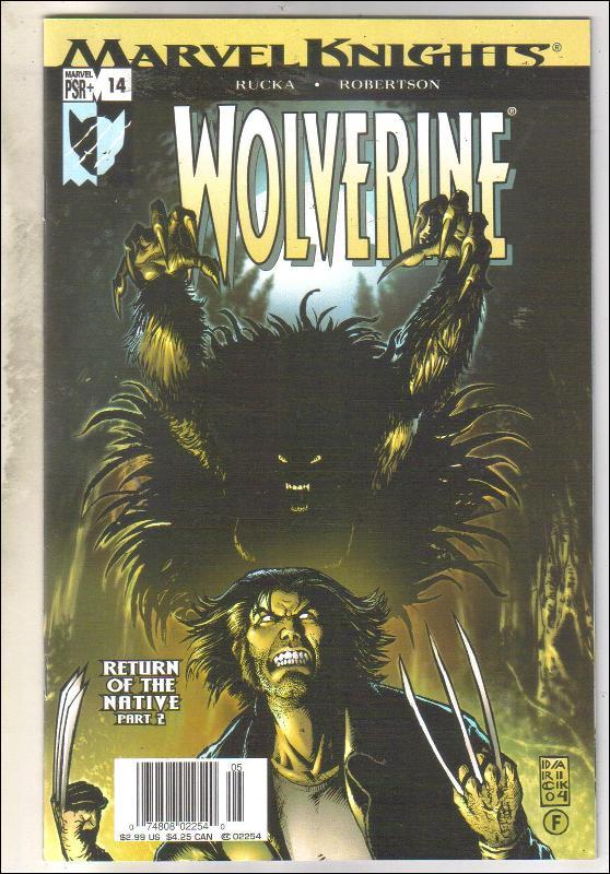 Wolverine volume 2 #14 comic book near mint 9.4