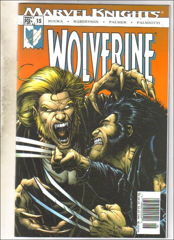 Wolverine volume 2 #15 comic book near mint 9.4