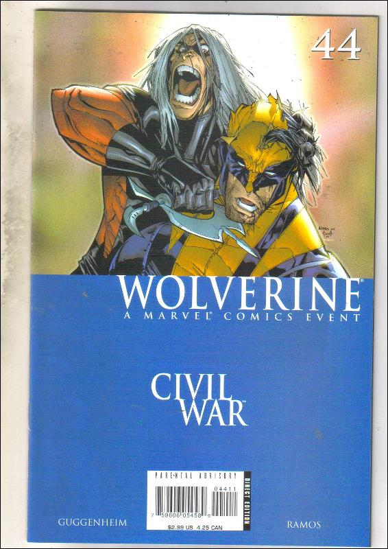 Wolverine volume 2 #44 comic book near mint 9.4