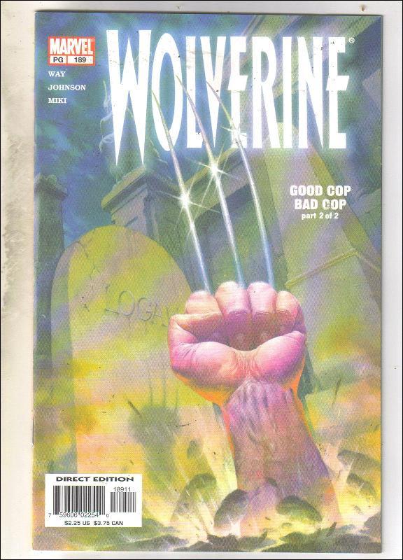 Wolverine #189 comic book near mint 9.4