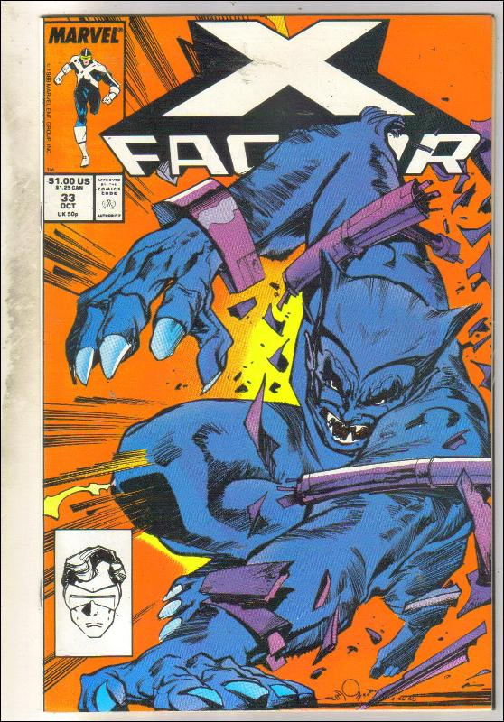 X-Factor #33 comic book near mint 9.4