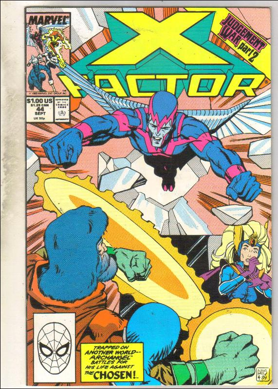 X-Factor #44 comic book near mint 9.4