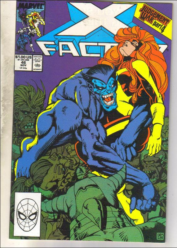 X-Factor #46 comic book near mint 9.4