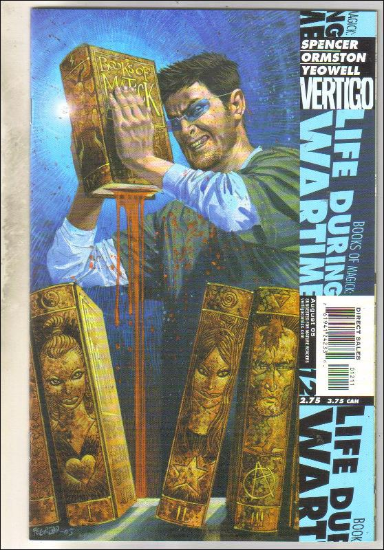 The Books of Magick Life During Wartime #12 comic book  near mint 9.4